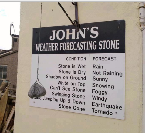 Weatherforecasting stone